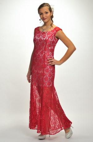 Elegantní dámské šaty na ples s krajkou vel. 38 - 44