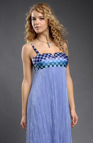 Dlouhé elastické společenské šaty se sedlem s potiskem čtverečků, vel. 38, 40