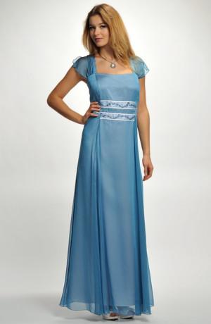 Dlouhé společenské, plesové, ale i svatební šaty pro plnoštíhlé zdobené výšivkou. Vel.52