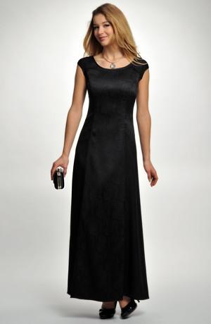 Elegantní večerní dlouhé šaty na širší ramínka v černé barvě, vel. 38, 40, 42, 44