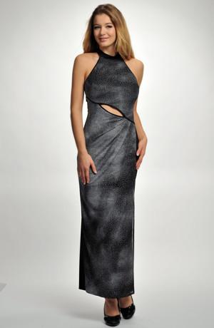 Dámské společenské dlouhé šaty pouzdrového střihu z elastické viskózy, vel. 36, 38, 40, 42