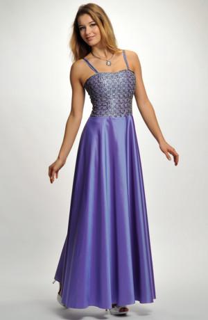 Dlouhé společenské korzetové šaty do divadla, na koncert, na ples - vel. 36.