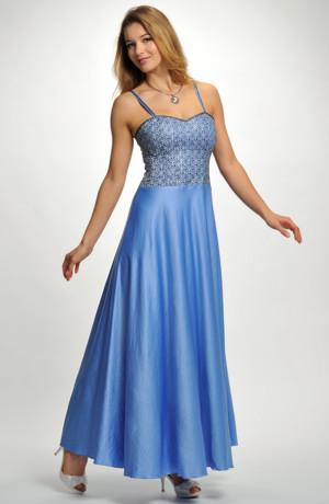 Luxusní dlouhé dívčí šaty na ramínka vhodné na ples, do tanečních na maturiťák, na prodlouženou, vel. 36, 38, 40, 42