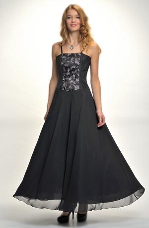 Plesové šaty s korzetovým živůtkem