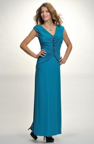 Luxusní dlouhé večerní šaty na slavnostní společenské příležitosti. vel. 38