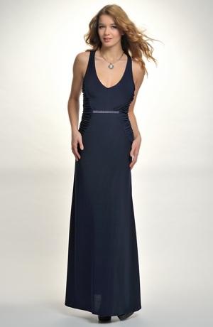 Večerní společenské šaty s americkými průramky. Vel. 34, 36, 38, 40 / XS, S, M, L