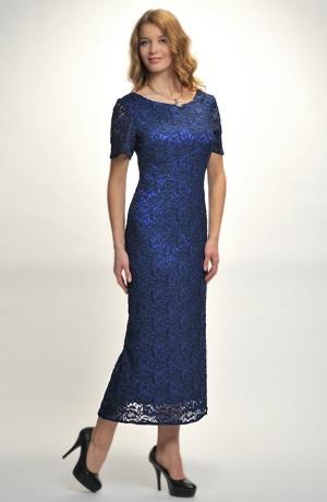 Plesové dlouhé dámské šaty z luxusní krajky - vel. 36, 38, 40...48
