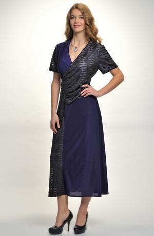 Dámské šaty s řasením na bok