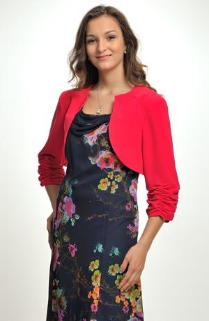 Společenské šaty z jemného šifónu s potiskem květů