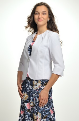 Bílý kratší kabátek