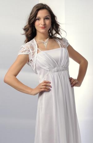 Krajkové bolerko vhodné k společenským a svatebním šatům