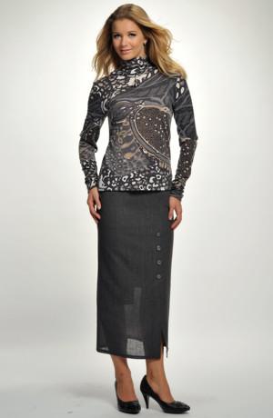 Dámská sukně s jemným proužkem-sleva