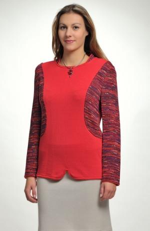 Dámský svetřík z melírované pleteniny
