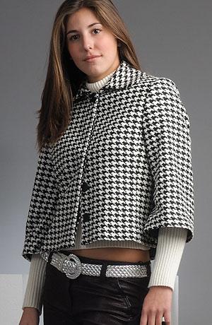 Moderní černobílé paletko s tříčtvrtečními rukávy