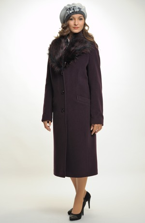 Dámský zimní dlouhý kabát
