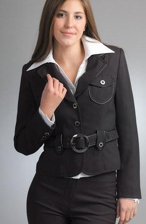 Moderní kalhotový business kostým