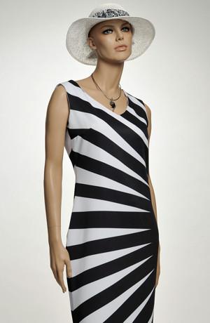 Asymetrické krátké šaty na léto