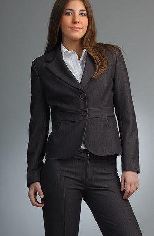 Černý kalhotový business kostým