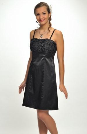 Krátké malé černé šaty na maturitní ples - vel.36, 38