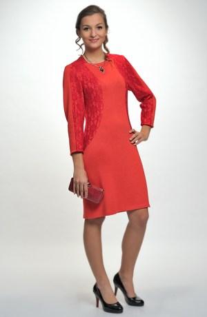 Pletené krátké šaty šaty s elastickou krajkou