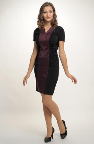 Jednoduché elegantní koktejlové šaty. Vel. 38, 40, 42