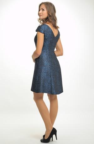 Dívčí krátké elegantní společenské šaty v modré barvě vel. 36, 38, 40, 42, 44