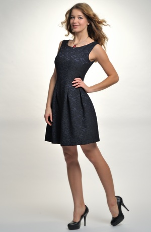 Společenské retro šaty se sukní se sklady