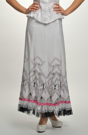 Letní řasená sukně s tylem