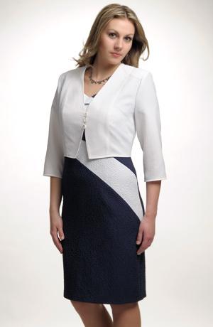 Elegantní dámský společenské pozdrovky a kabátek