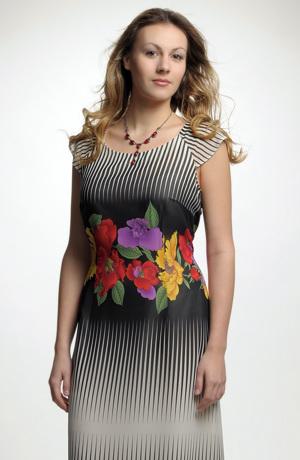 Letní šifonové šaty s opartovým vzorem