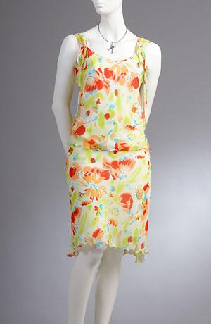 Lehké květované šaty s ramínky