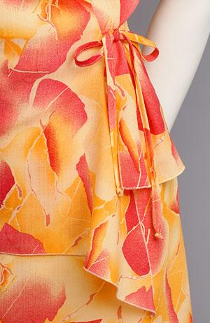 Lehké květované šaty s rukávky