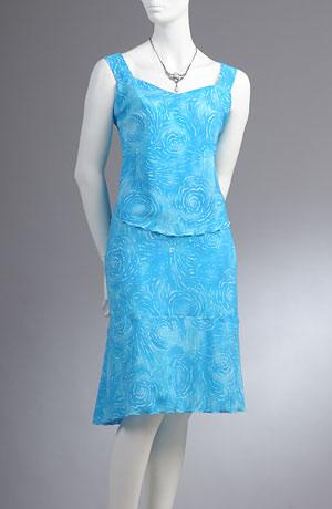 Letní komplet v modní tyrkysové barvě