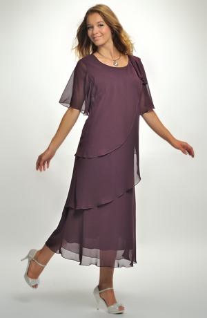 Dlouhé večerní šaty pro plnoštíhlé