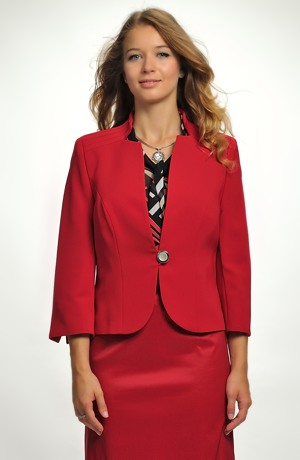 Červené, modré společenské sako