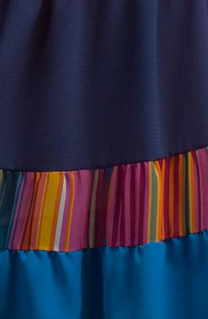 Sukně do barevných pruhů