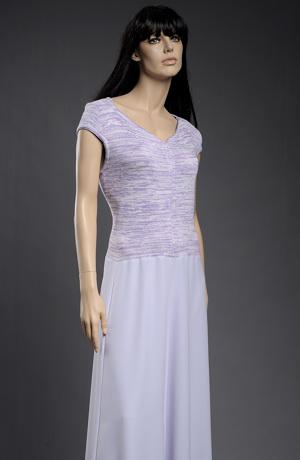 Sleva šatů s pletáží