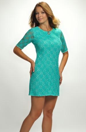 Dívčí společenské šaty s krajkou vel. 38, 40