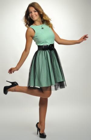 Šaty do tanečních z elastické bavlny vhodné na latinu i standardní tance.