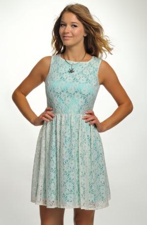 Krátké dívčí koktejlové šaty na ramínka hodné na párty, do tanečních, na maturitu, barva královská modrá. Velikost 44 / L