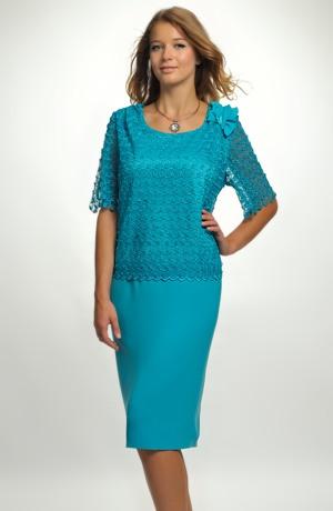 Společenské pouzdrové šaty - pouzdrovky, vel. 48
