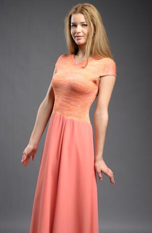 Šaty s melírovaným sedýlkem