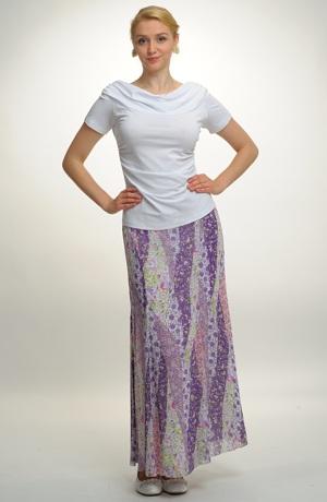 Letní maxi sukně z jemného šifonu