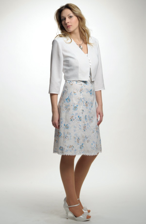 Krátké společenské šaty na ramínka