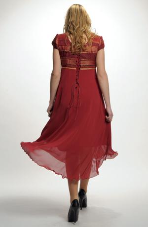 Dámské šaty empírového střihu.