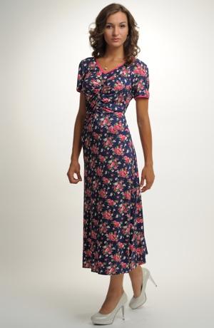 Květované společenské dámské šaty