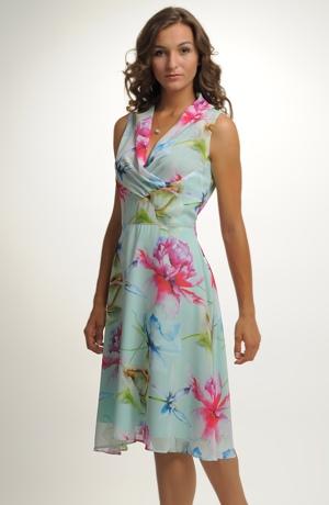 Dámské letní šaty s řasením