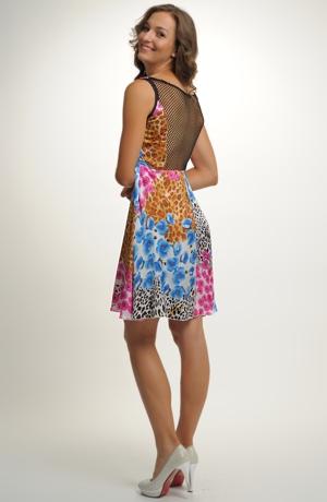 Dívčí společenské šaty na léto mladistvého střihu, vel. 38