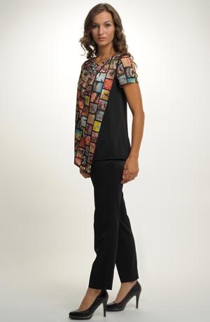Tunika z luxusní tkaniny s asymetrickým střihen