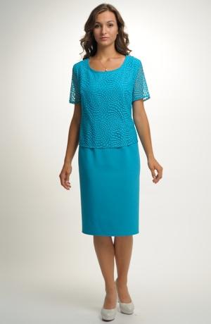 Krátké šaty se sedlem z krajky